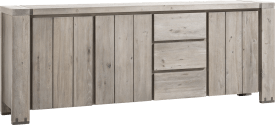 dressoir 240 cm - 3-deuren + 3-laden