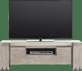 meuble tv 130 cm - 1-porte rabattante + 1-niche