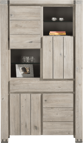 armoire 4-portes + 1-tiroir + 4-niches
