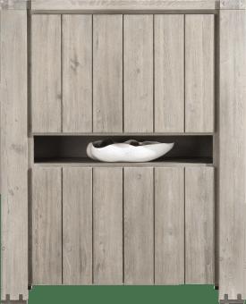 bergkast 4-deuren + 1-niche