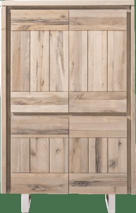 armoire 99 cm - 4-portes - inox
