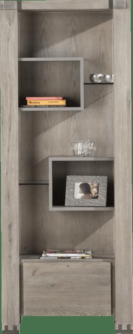 boekenkast 1-lade + 5-niches - 190 cm