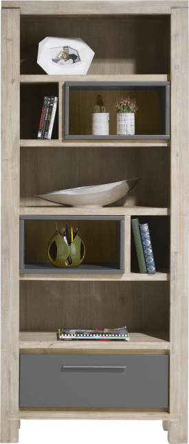 bibliotheque 80 cm - 1-tiroir + 7-niches