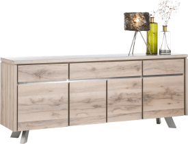 sideboard 4-tueren + 3-laden - 210 cm