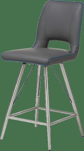 chaise de bar inox - tatra antracite ou tatra charcoal + accent