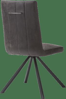 chaise - 4 pieds noir - tissu leopard anthracite
