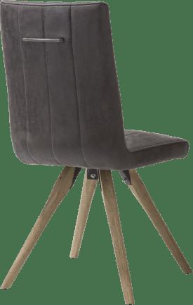 eetkamerstoel - houten frame - stof leopard antraciet