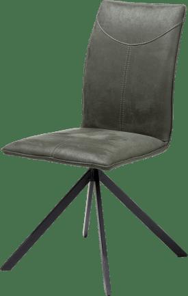 stuhl - 4 schwarzen metal fuessen - stoff kibo