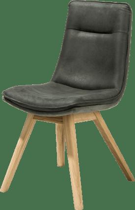 chaise pied chene naturel - sans poignee - tissu savannah/kibo combi