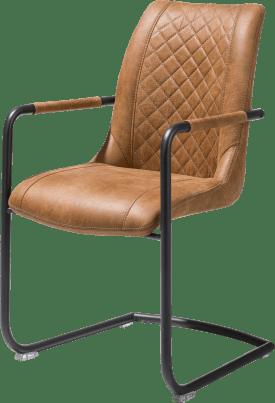 fauteuil + poignee ronde - cadre off black - tissu secillia