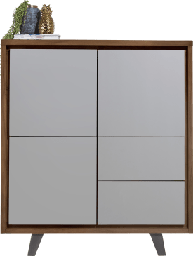 bergkast 125 cm - 3-deuren + 2-laden