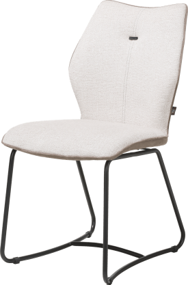 chaise - cadre noir - ressorts nosag - combinaison kibo / fantasy