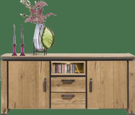 sideboard 180 cm - 2-tueren + 2-laden + 1-niche (+ led)