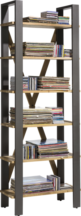 boekenkast 75 cm - 6-niches