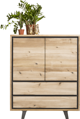 highboard 120 cm - 2-tueren + 2-laden