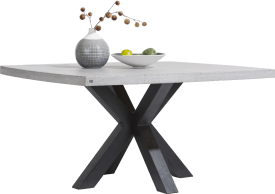 table 150 x 150 cm - plateau beton