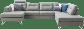 longchair + 3-sitzer + ottomane rechts