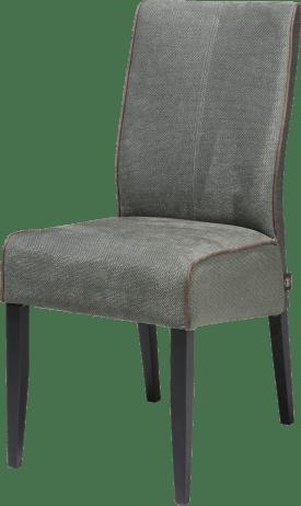 chaise - pieds en hetre noir - tissu miami vert / ocre