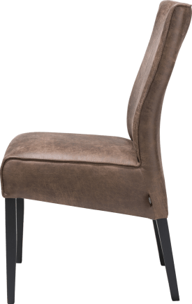 chaise - pieds en hetre noir - tissu secillia brun