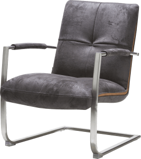 fauteuil met frame in rvs of zwart