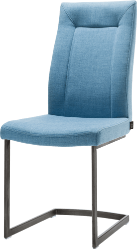 chaise - pied traineau metal vintage carre
