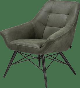 fauteuil zwart frame + stof kibo