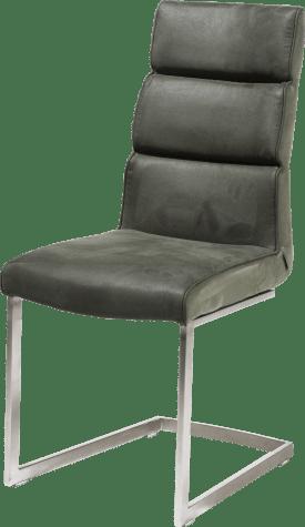 chaise - pied inox traineau carre avec poignee carre -savannah/kibo