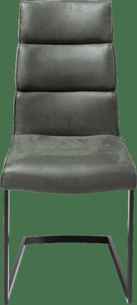 chaise - pied noir traineau carre avec poignee carre -savannah/kibo