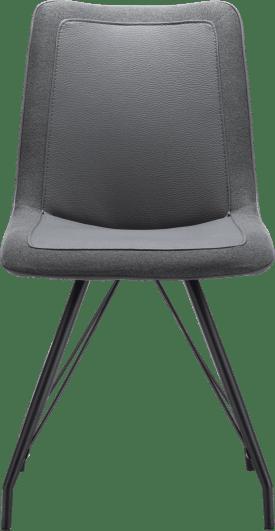 chaise - cadre metal noir - combi tatra/blues