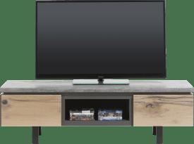 meuble tv 150 cm - 1-tiroir + 1-porte rabattante + 1-niche