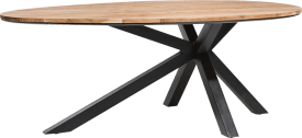 table ovale 200 x 120 cm - kikar massif