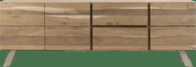 sideboard 220 cm - 3-tueren + 2-laden