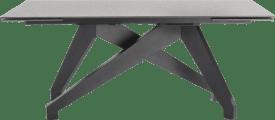 tisch (+ 2 x 40) x 100 cm - lava anthrazit