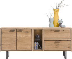 sideboard 180 cm - 2-doors + 2-drawers + 2-niches (+led)