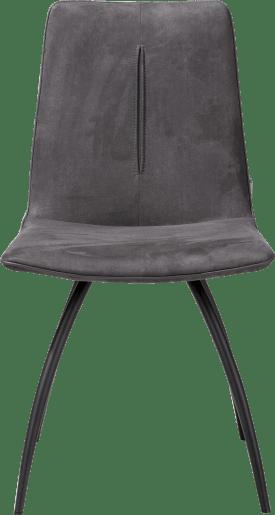 eetkamerstoel 4-poots gebogen - zwart - met stiksel