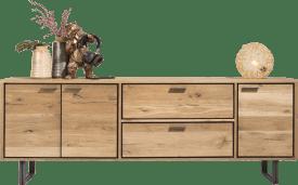 dressoir 240 cm - 3-deuren + 2-laden