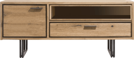 lowboard 140 cm - 1-door + 1-drawer + 1-niche (+led)