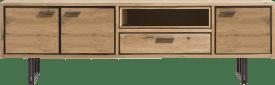 lowboard 200 cm - 3-deuren + 1-lade + 1-niche (+led)