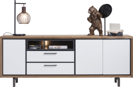 dressoir 210 cm - 3-deuren + 2-laden + 2-niches (+ led)