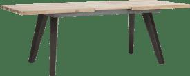uitschuiftafel 180 (+ 50) x 100 cm - geheel hout