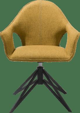 fauteuil + poignee + ressort a gas - metal off black - tissu lady