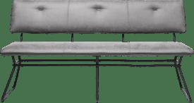 bank 160 cm. - zwart frame - kibo met bies tatra antraciet