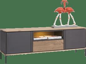 lowboard 170 cm - 2-portes + 1-tiroir + 1-niche (+ led)