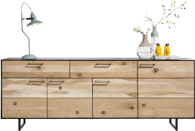 sideboard 4-teuren + 2-laden - 230 cm