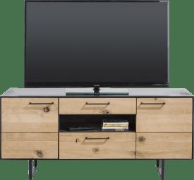 lowboard 2-portes + 2-tiroirs + 1-niche - 140 cm (+ led)