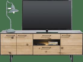 lowboard 3-portes + 2-tiroirs + 1-niche - 170 cm (+ led)