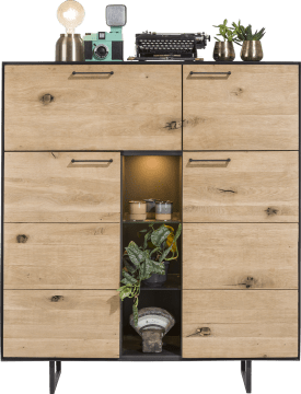 highboard 3-deuren + 1-klep + 3-niches - 125 cm (+ led)