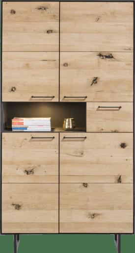 armoire 4-portes + 1-tiroir +1-niche - 100 cm (+ led)