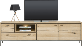 lowboard 200 cm - 2-doors + 2-drawers + 2-niches (+ led)