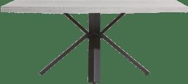 table 190 x 100 cm - beton - pied forme etoile